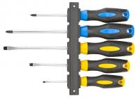 Screwdriver set 5pcs + hanger