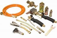 Brazing kit 7 torches + hose 3m + reducer of gas preasure. Metal suitcase