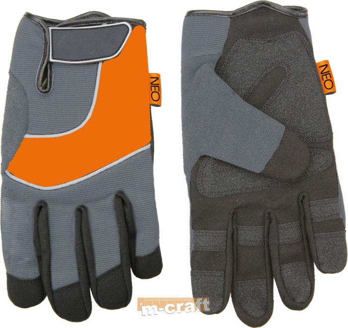 Working gloves, leather, PVC, 10