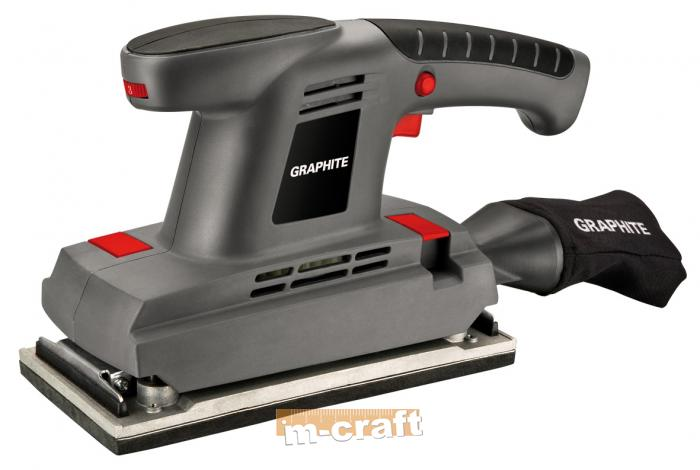 Finishing sander 380W, sanding path 115x230mm, variable speed 6000-10000 min-1