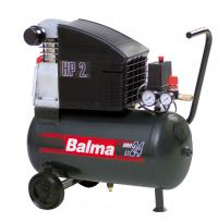Compressor 24l, 230V, 8 bar, air intake 240l/min