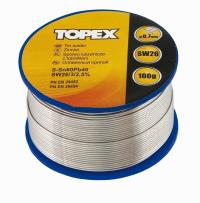 Tin solder, 60% Sn: 0.7 mm wire and SW 26 flux. 100 g, electronics - blister