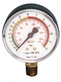 Manometer wit radial connection 1/4